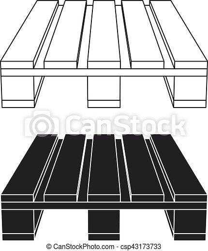 Bois palette symbole noir toile bois symbole - Palette a dessin ...