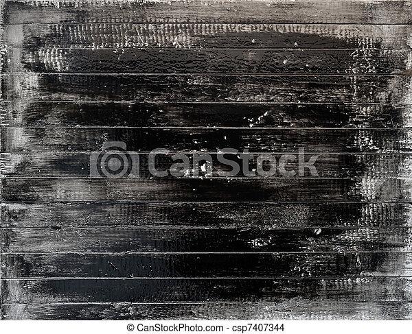 Bois peint blanc noir planche grunge bois fait main for Planche bois noir