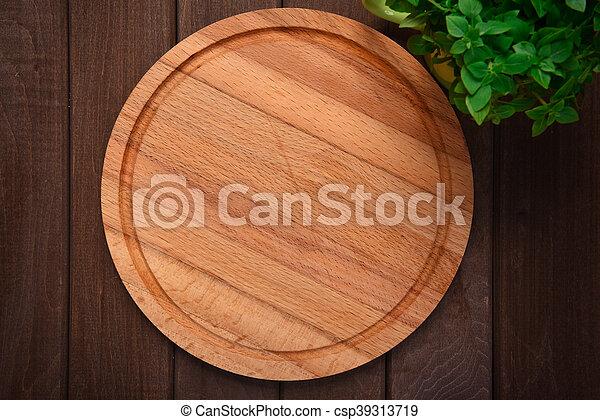 bois, planche découper, fond - csp39313719