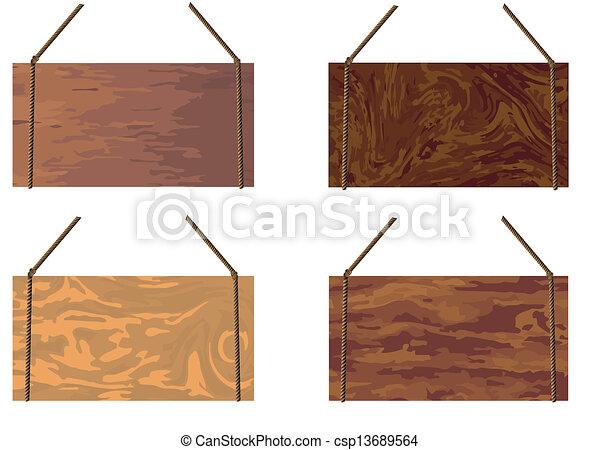 bois, signe, corde, fond, pendre, message - csp13689564