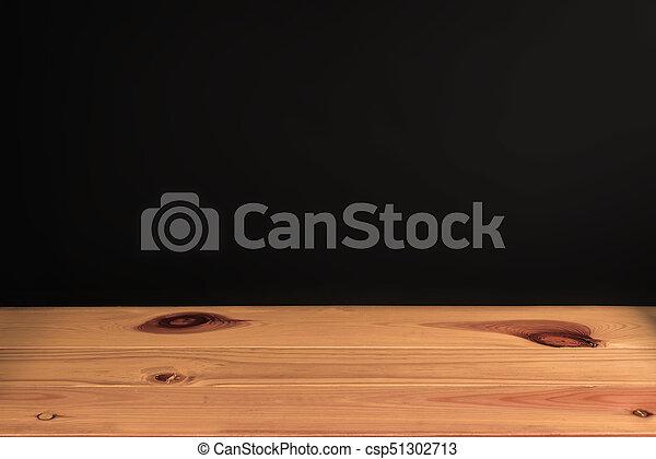 Bois vendange tone mur arrière plan noir bureau table ou
