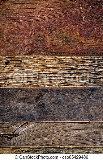 bois, vieilli, fond, au-dessus, planches - csp65429486