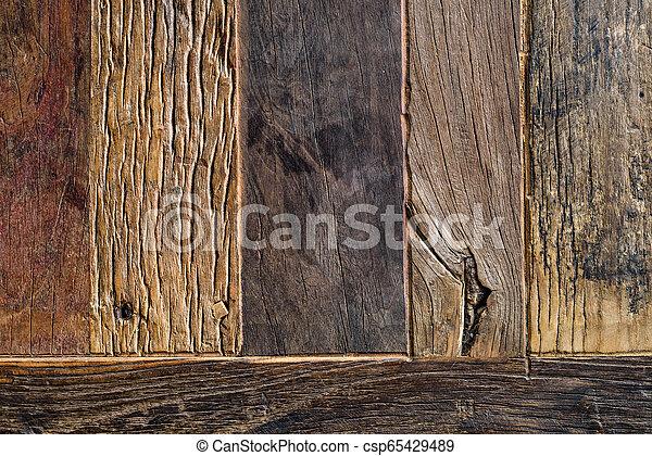 bois, vieilli, fond, au-dessus, planches - csp65429489