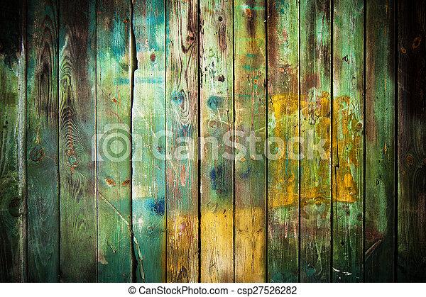 bois, vieux, fond - csp27526282