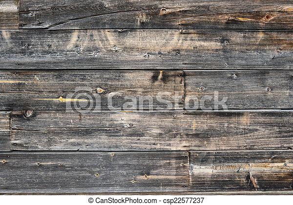 bois, vieux, fond - csp22577237