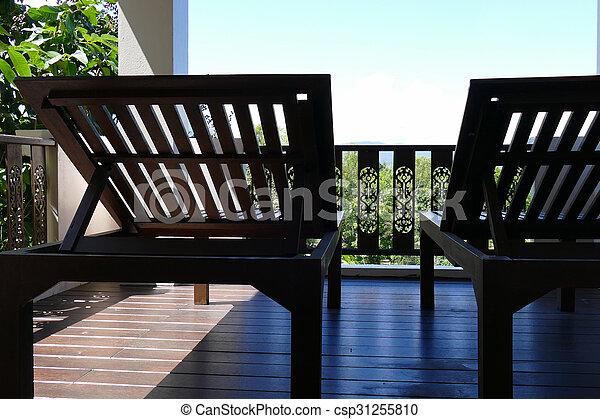 bois vue ciel fort transat balcon csp31255810 - Transat Balcon