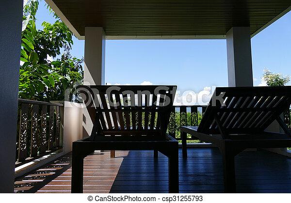 bois vue ciel fort transat balcon csp31255793 - Transat Balcon