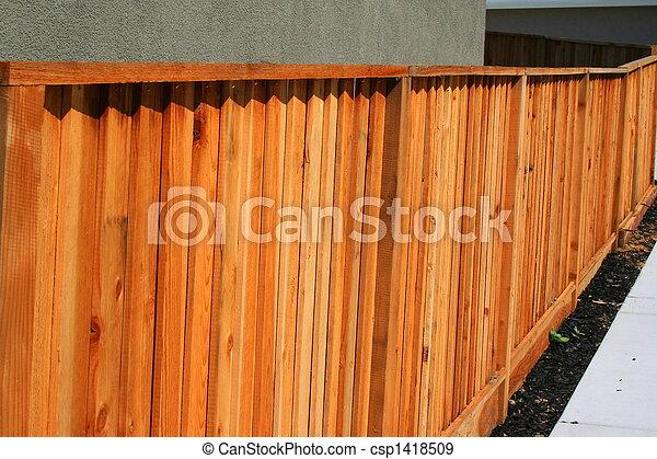 bois, yard, barrière - csp1418509