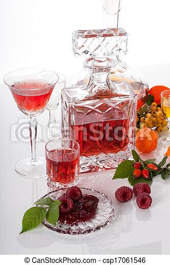 boisson, alcoolique, fruits - csp17061546