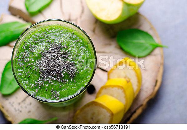 boisson saine, vert, smoothie - csp56713191