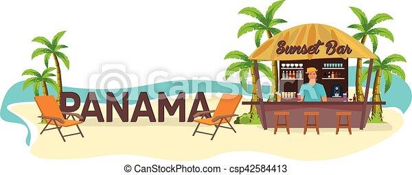 Boisson Travel Panama Chaise Salon Paume Tropical Plage été Bar