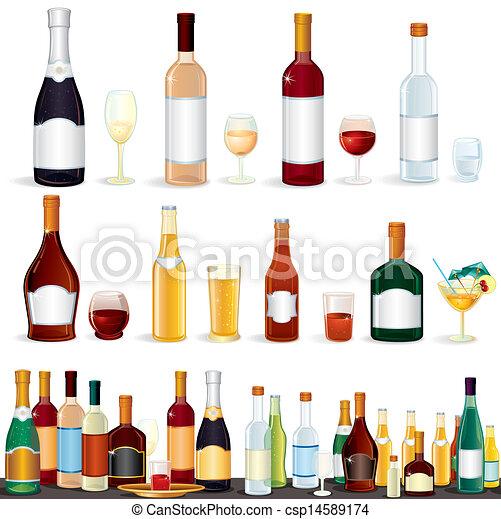 boissons, alcool, collection - csp14589174