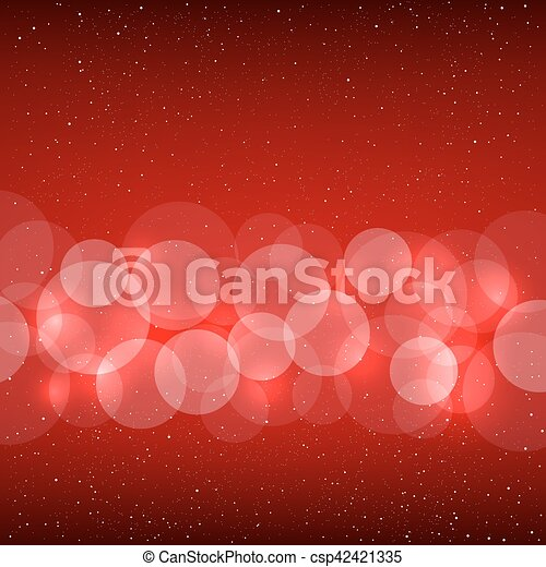 bokeh, 赤い背景 - csp42421335