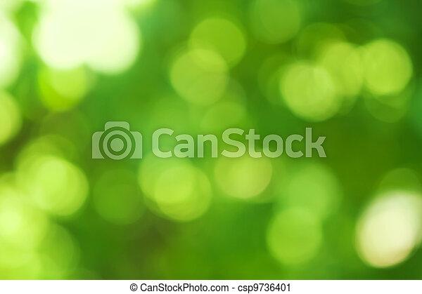 bokeh, achtergrond, groene, effect, vaag - csp9736401