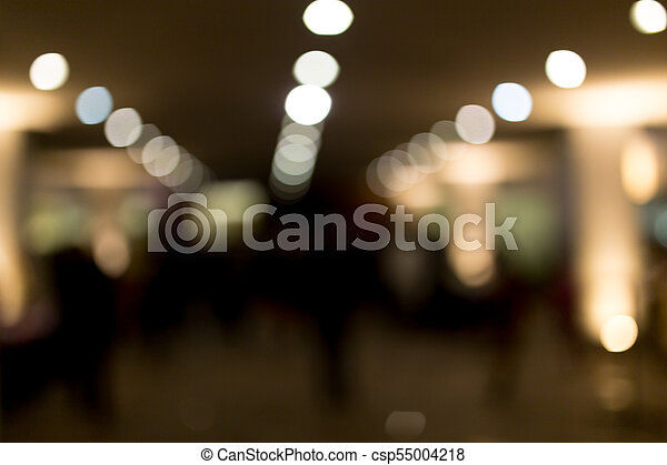 Bokeh at night in the city as a background - csp55004218