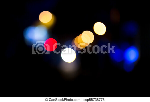 Bokeh at night in the city as a background - csp55738775