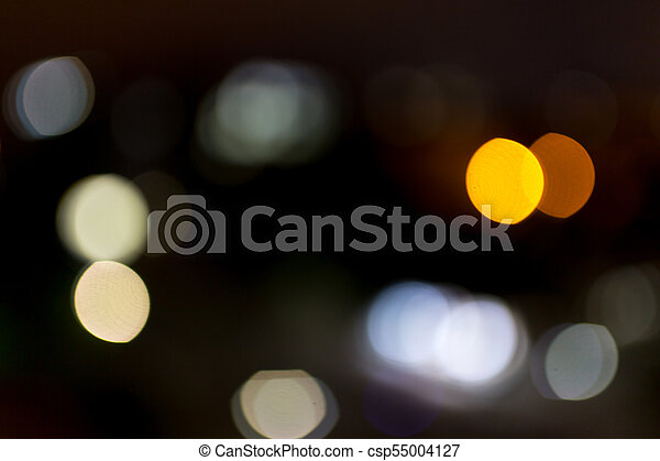 Bokeh at night in the city as a background - csp55004127