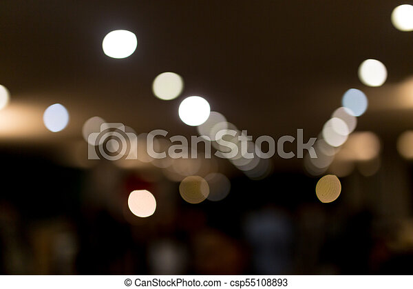 Bokeh at night in the city as a background - csp55108893