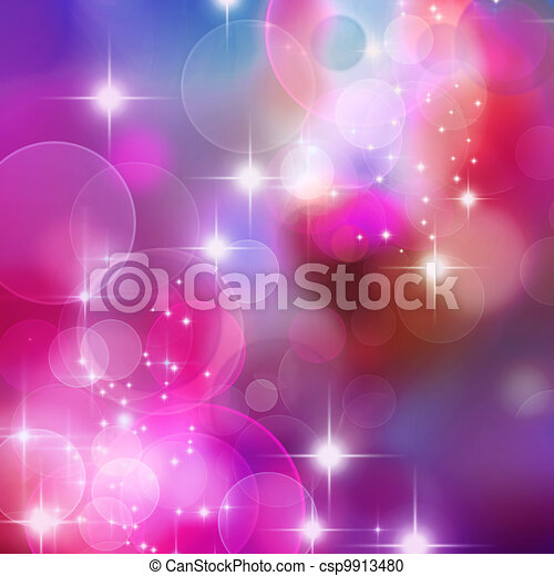 bokeh blurred lights background - csp9913480