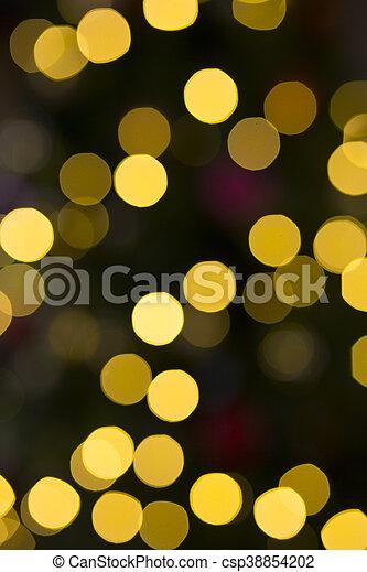 Bokeh Fairy Lights - csp38854202
