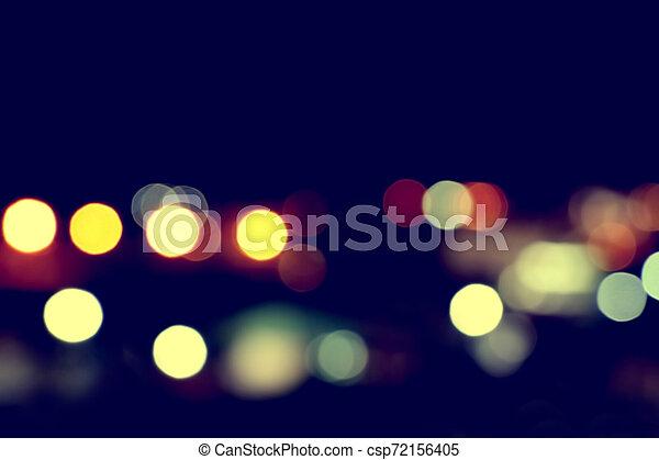 bokeh light in city night time - csp72156405