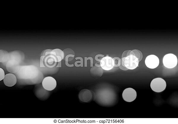 bokeh light in city night time - csp72156406
