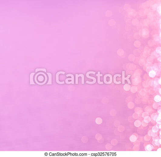 Bokeh lights abstract on pink background - csp32576705