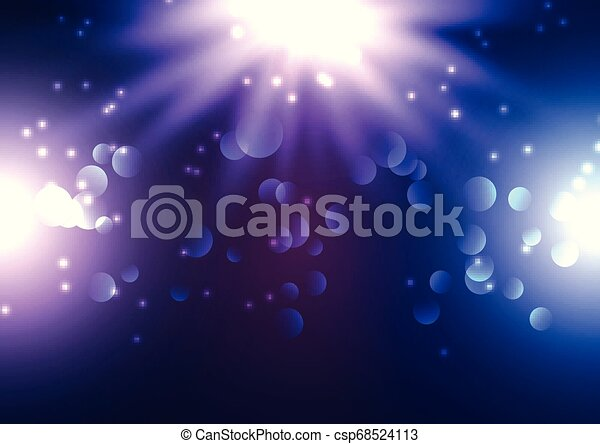 Bokeh lights background with spotlights - csp68524113