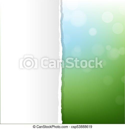 bokeh, sfondo verde, natura - csp53888619