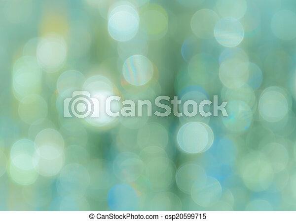 bokeh, turquoise, fond - csp20599715