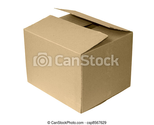 boks, karton, odizolowany - csp8567629