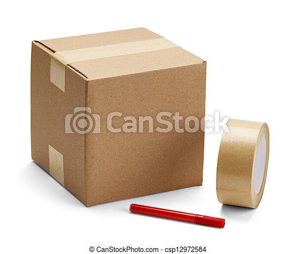 boks, pakowanie, tektura - csp12972584