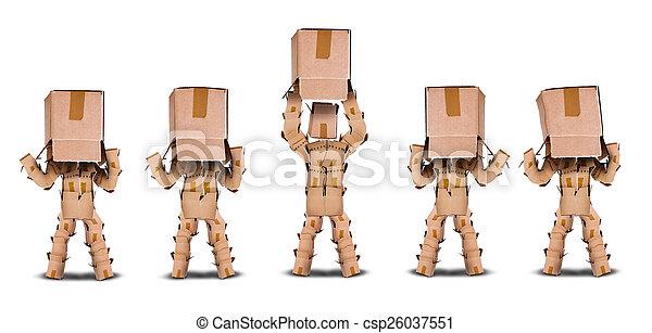 boks, pojęcie widzenia, litery, handlowy - csp26037551