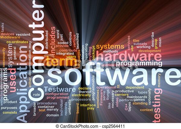 boks, software, słowo, chmura, pakunek - csp2564411