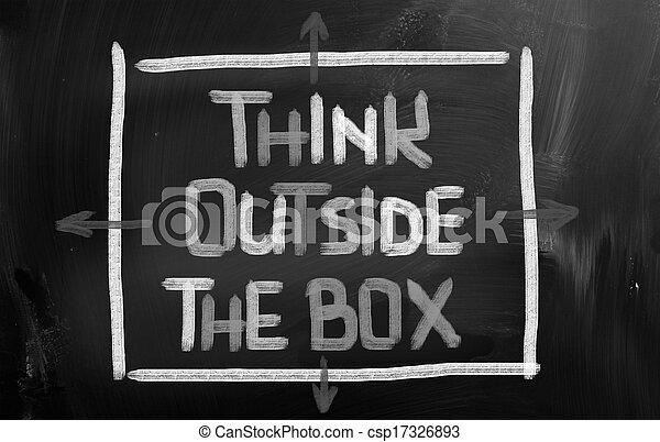 boks, zewnątrz, pojęcie, myśleć - csp17326893