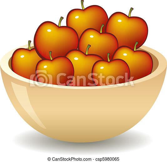 bol, pommes - csp5980065