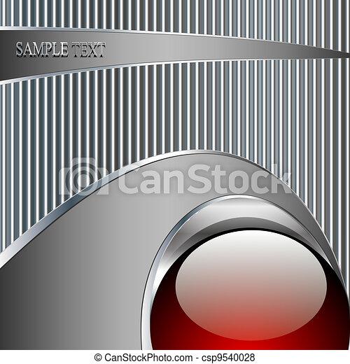 bola, abstratos, metálico, fundo, tecnologia, vermelho - csp9540028