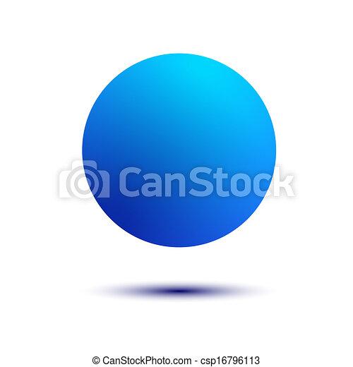 bola azul, isolado - csp16796113