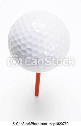bola, baliza golfe - csp1820769