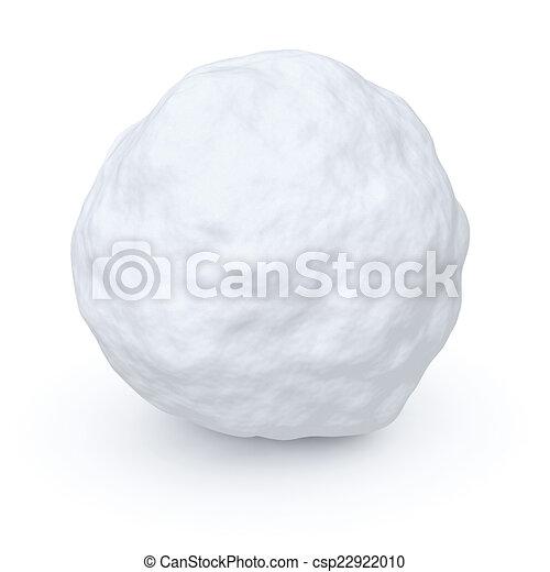 Una bola de nieve - csp22922010