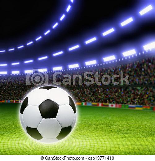 bola futebol, estádio - csp13771410