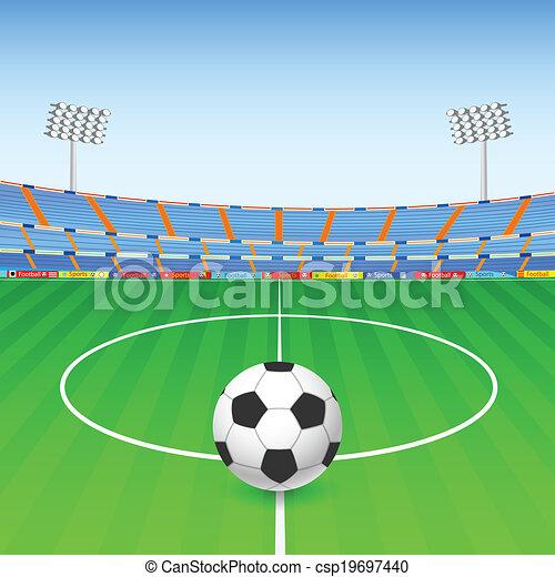 bola, futebol, estádio - csp19697440