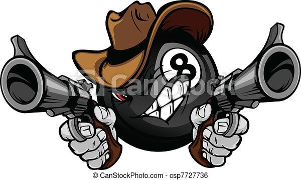 bola, oito, bilhar, piscina, shootout - csp7727736