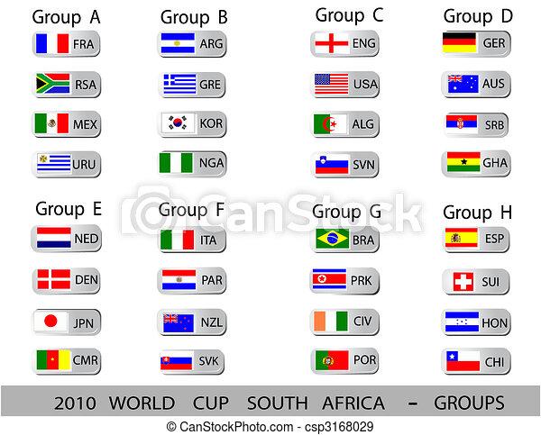 bolas, copo, -, áfrica, grupos, mundo, 2010, sul - csp3168029
