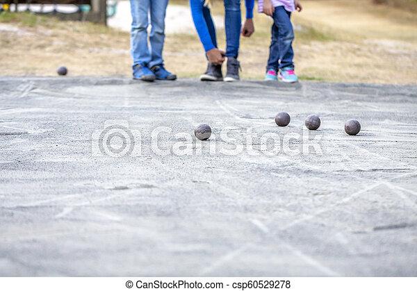 bolas, lazer, família, tocando - csp60529278