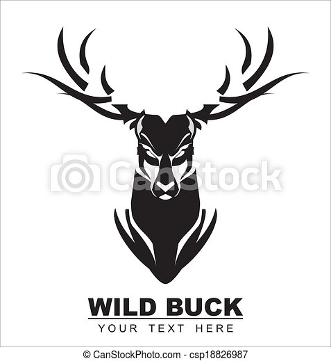 Bold Black Deer  - csp18826987