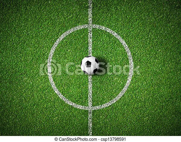 bold, centrum, top, felt, baggrund, soccer, udsigter - csp13798591