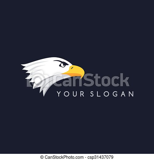 Bold eagle template. Bold eagle bird template theme vector art ...