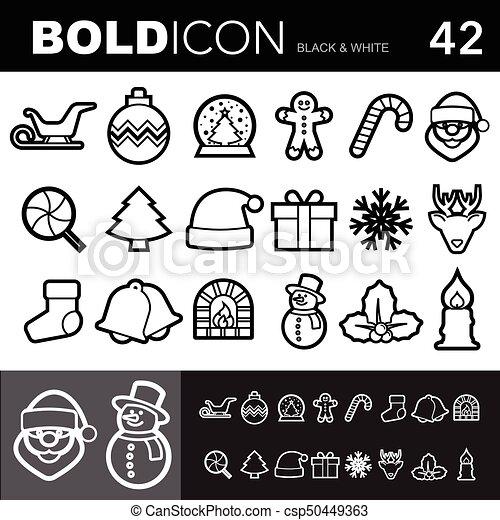 Bold line icons set.Illustration eps 10 - csp50449363