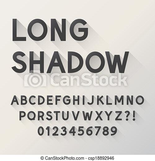 Bold Long Shadow Alphabet - csp18892946